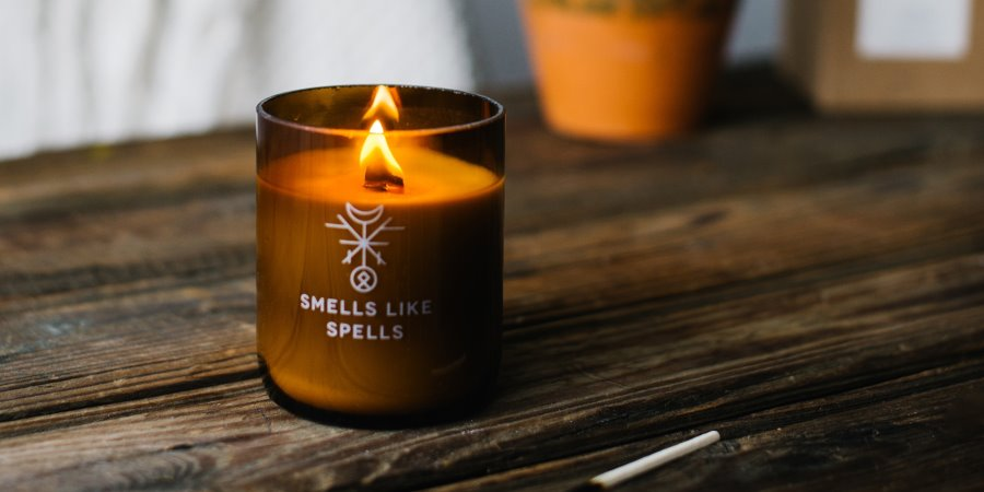 Magic hand crafted scented candle